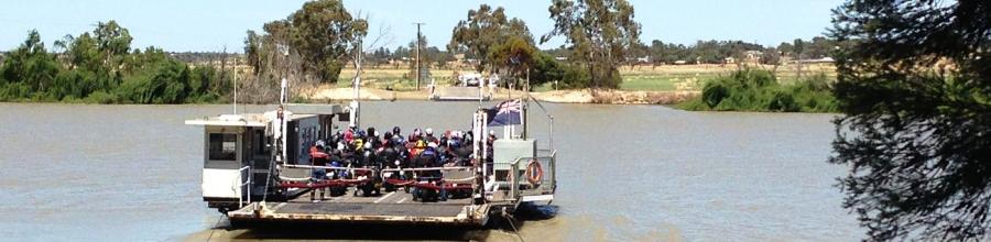 Tailem Bend Ferry full of bikes